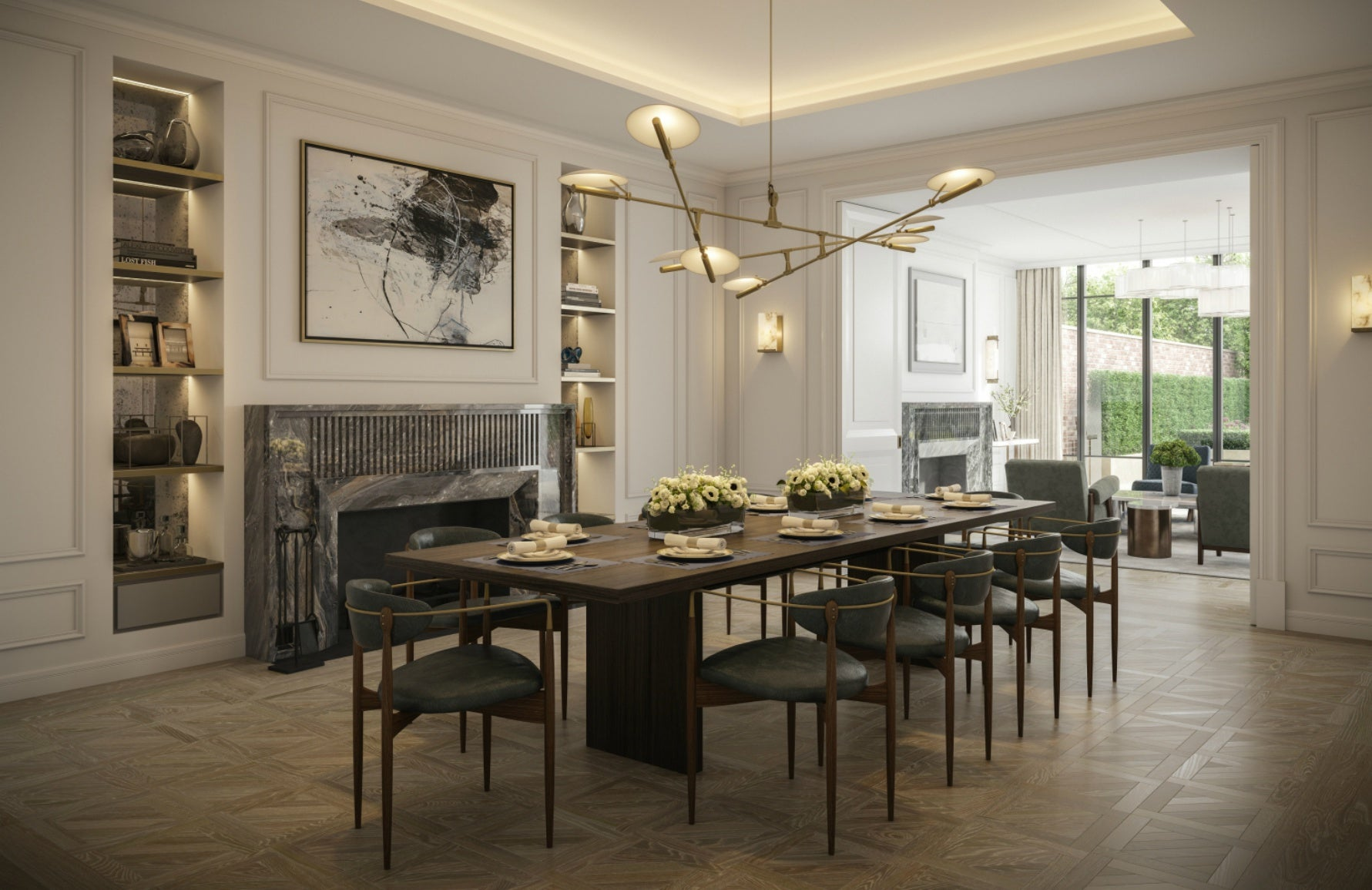 How To Light Your Home For Winter | Luxury Dining Room | Design by 1508 London | Read more in LuxDeco.com