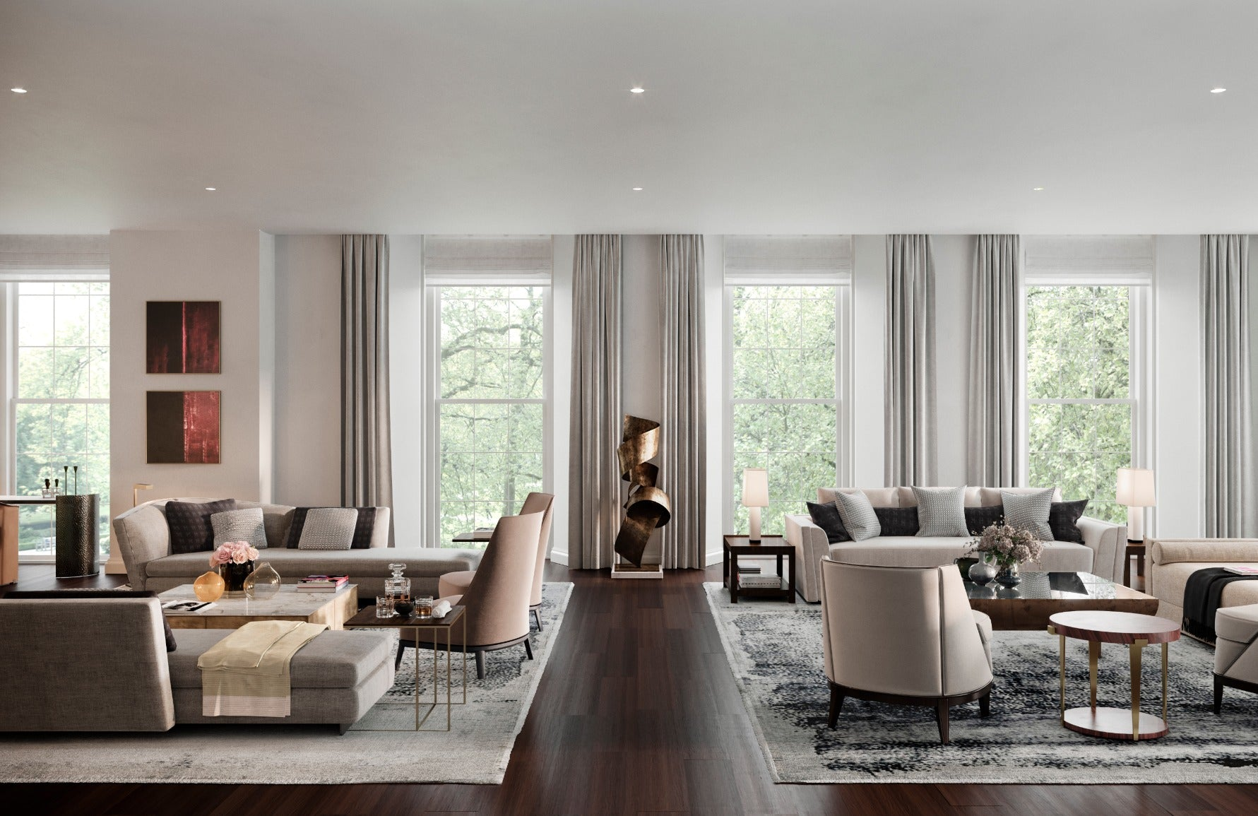 How To Master London Interior Design – Finchatton Interior Design – Timeless Living Room – Read on the LuxDeco.com Style Guide