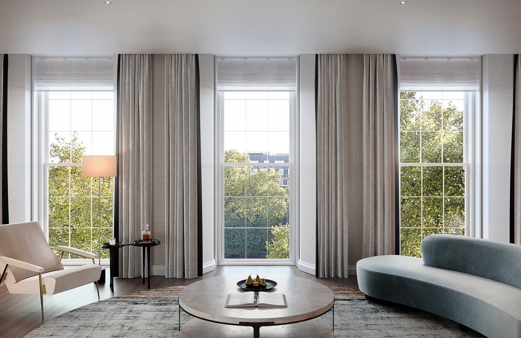 How To Master London Interior Design – 20 Grosvenor Square – Neutral Living Room – Read on the LuxDeco.com Style Guide