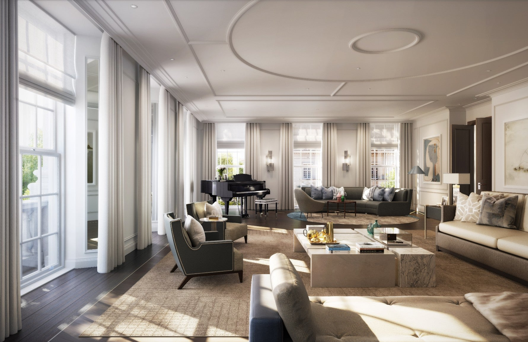 How To Master London Interior Design – 20 Grosvenor Square – Timeless Living Room Design – Read on the LuxDeco.com Style Guide