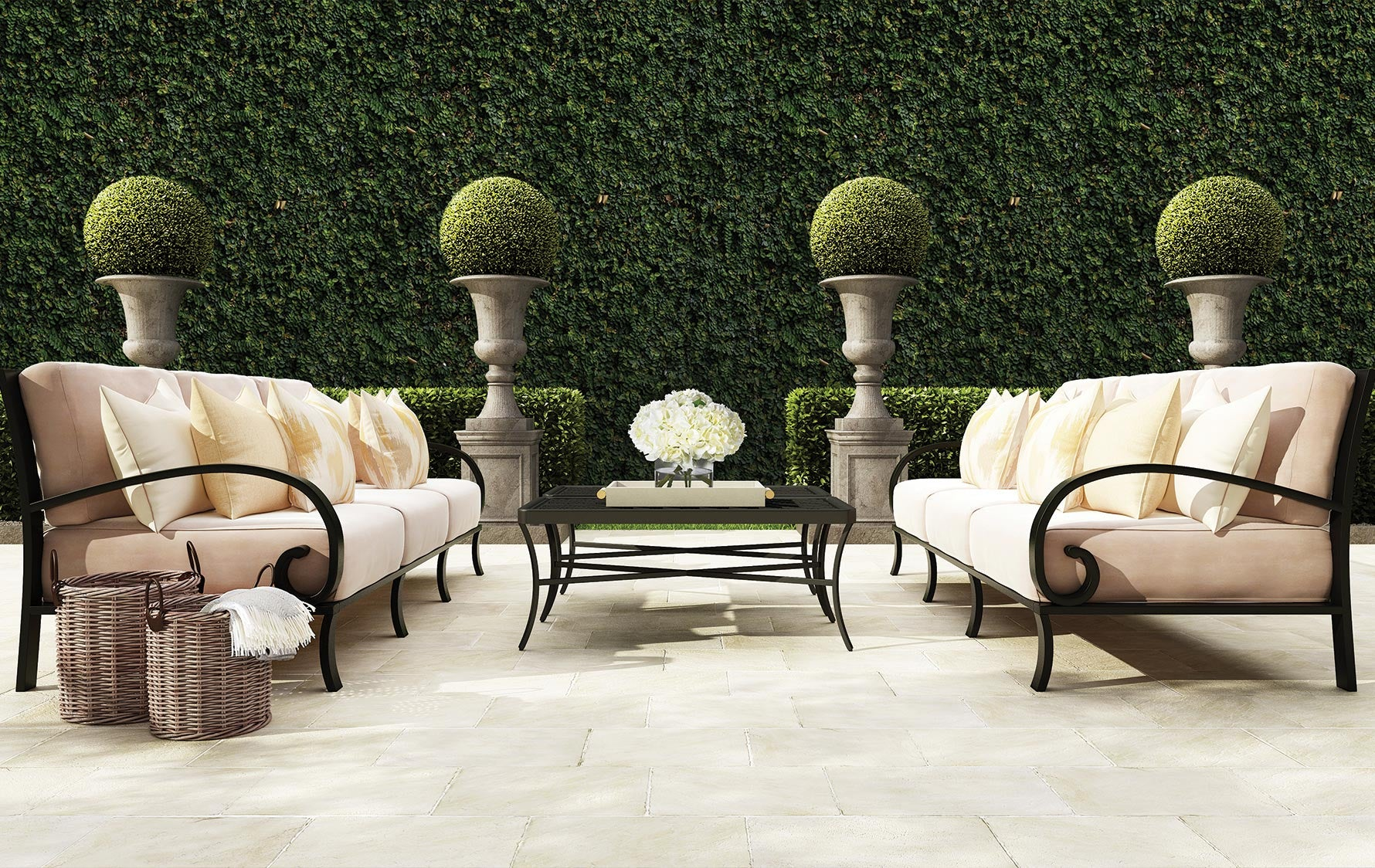 Transform Your Outdoor Space Into A Staycation Resort | Get the English Garden look at LuxDeco.com