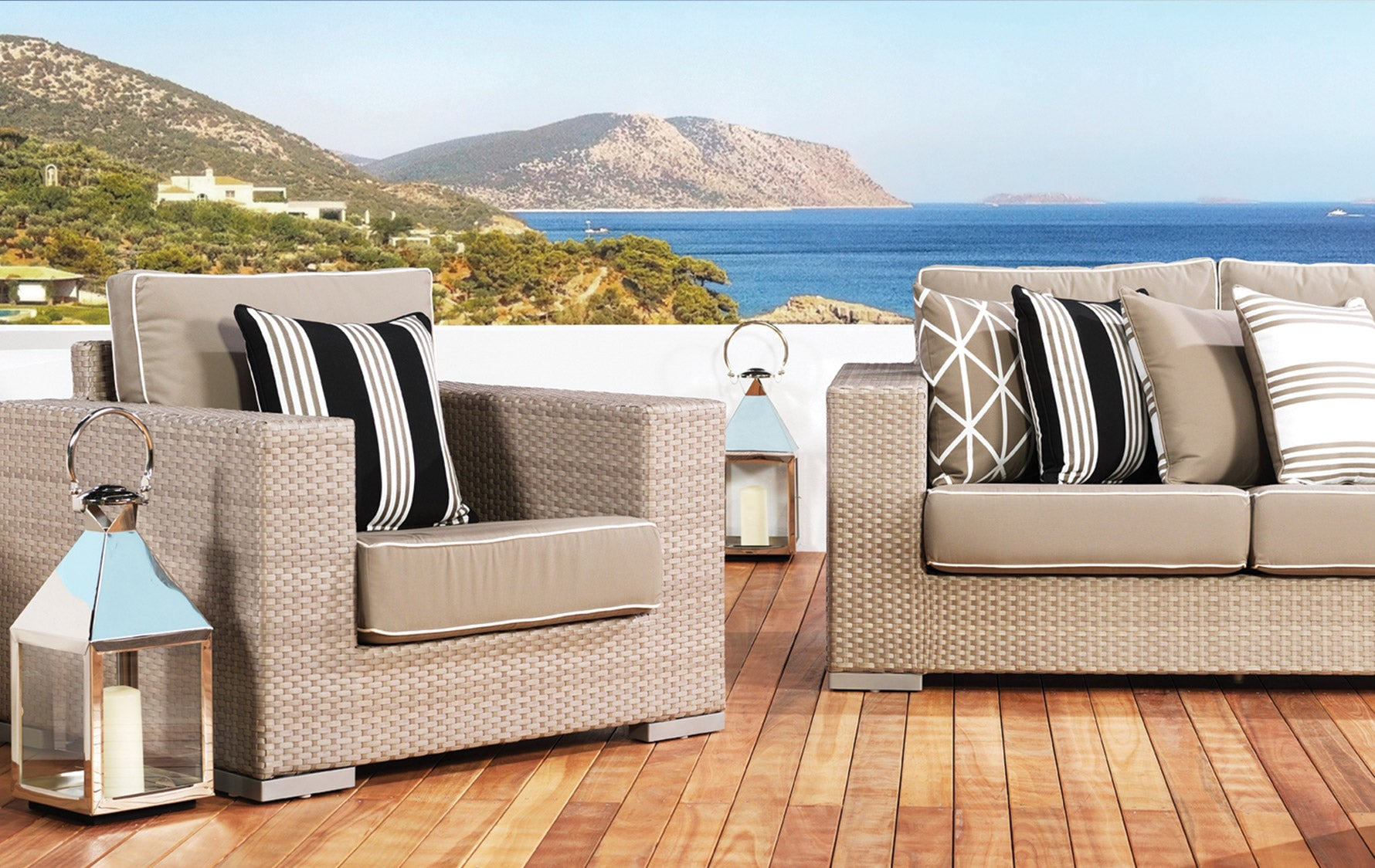 Transform Your Outdoor Space Into A Staycation Resort | Get the French Riviera look at LuxDeco.com