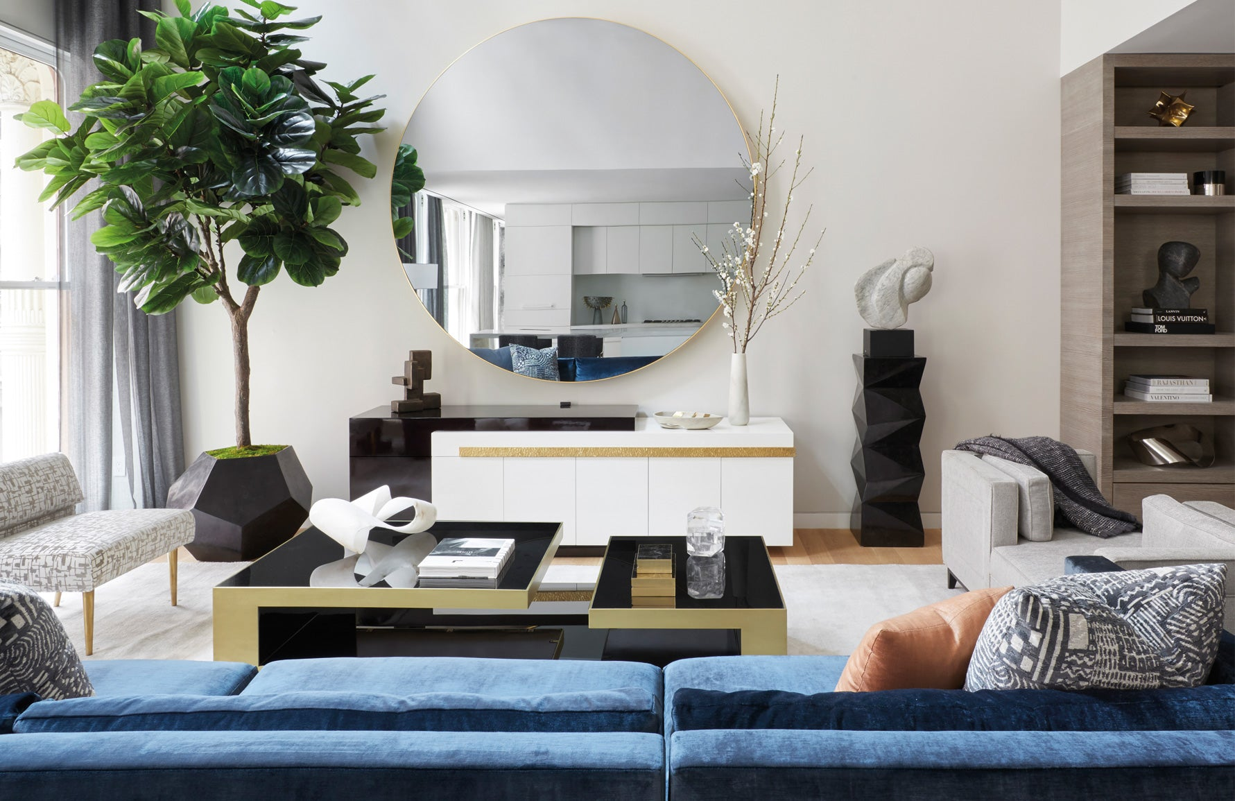 How To Use Oversized Decor In Your Space | Large Mirrors | Design by Carlyle Designs | Read more in the LuxDeco.com Style Guide