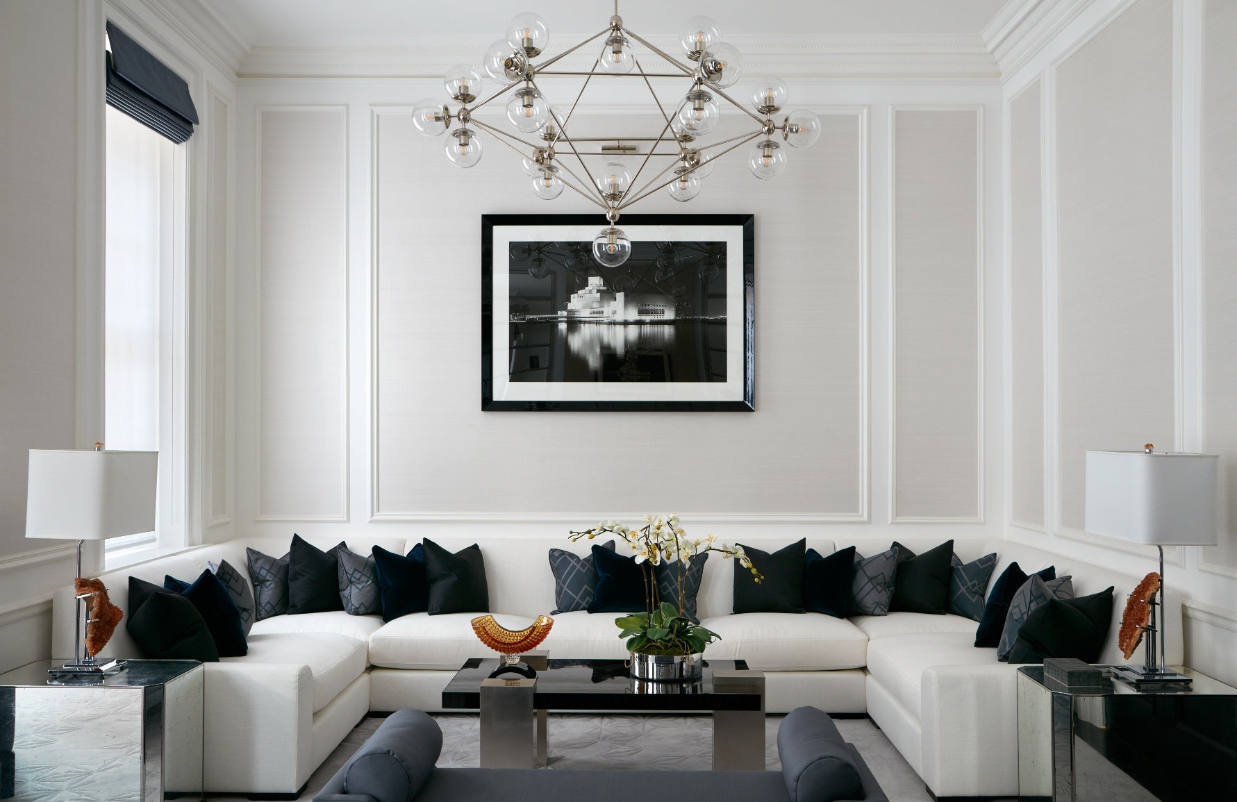 Living Room Furniture Arrangement | Neutral Living Room | LuxDeco Interior Design | Shop the pieces at LuxDeco.com