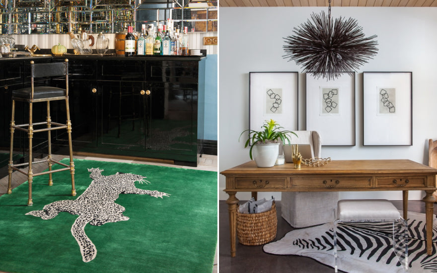 How to Decorate With Animal Print In Your Home Interior | Leopard Print Rugs | Zebra Print Rugs | LuxDeco.com Style Guide