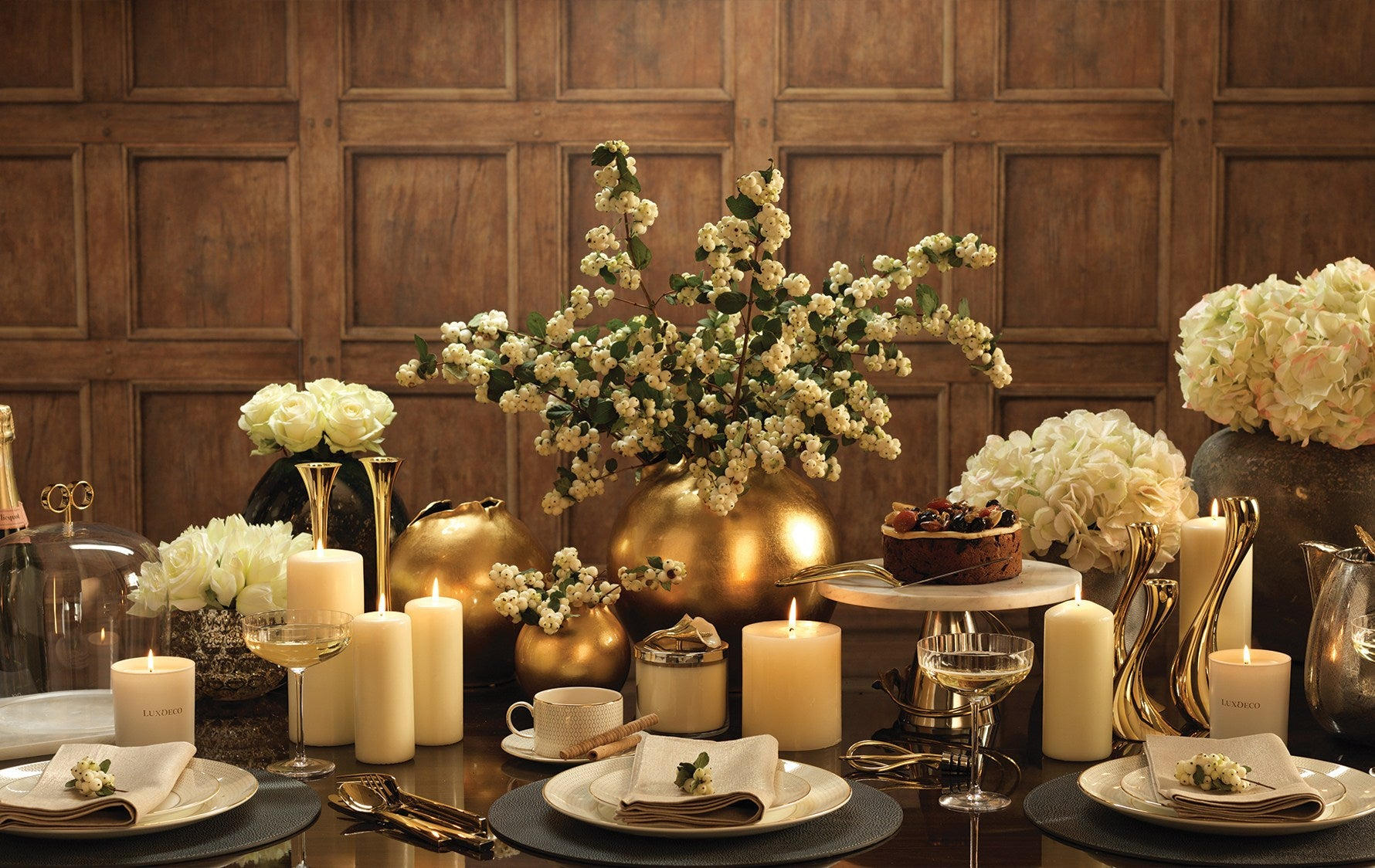 Winter Decorating Ideas | Use Winter Themed Table Decorations | Shop luxury dinnerware online at LuxDeco.com