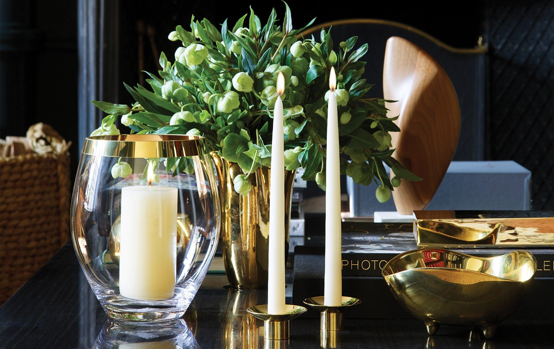 Winter Themed Table Decorations | How to Decorate your Home for Winter | Read more in the LuxDeco Style Guide