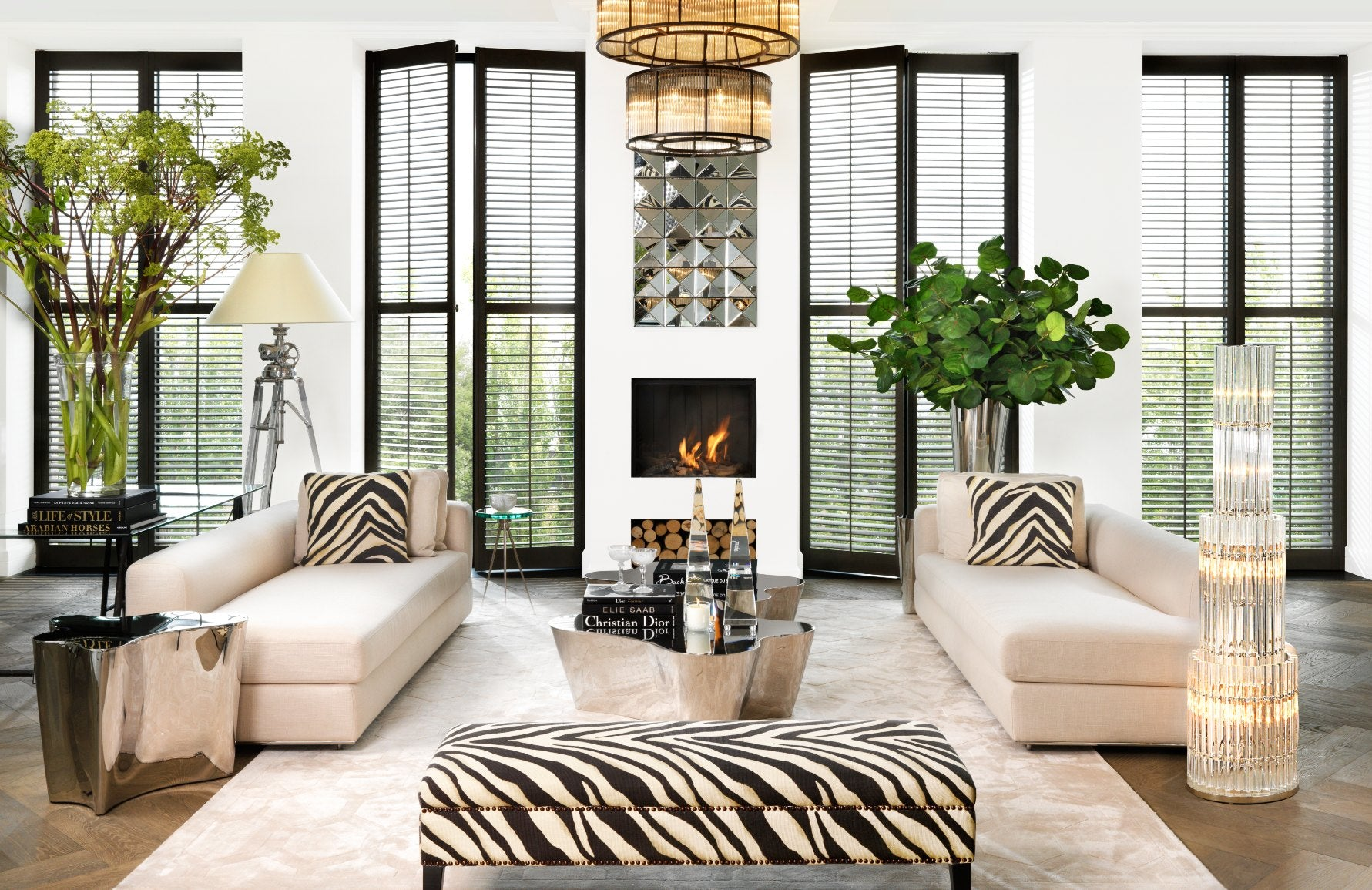 How to Decorate With Animal Print In Your Home Interior | Zebra Print Furniture | LuxDeco.com Style Guide