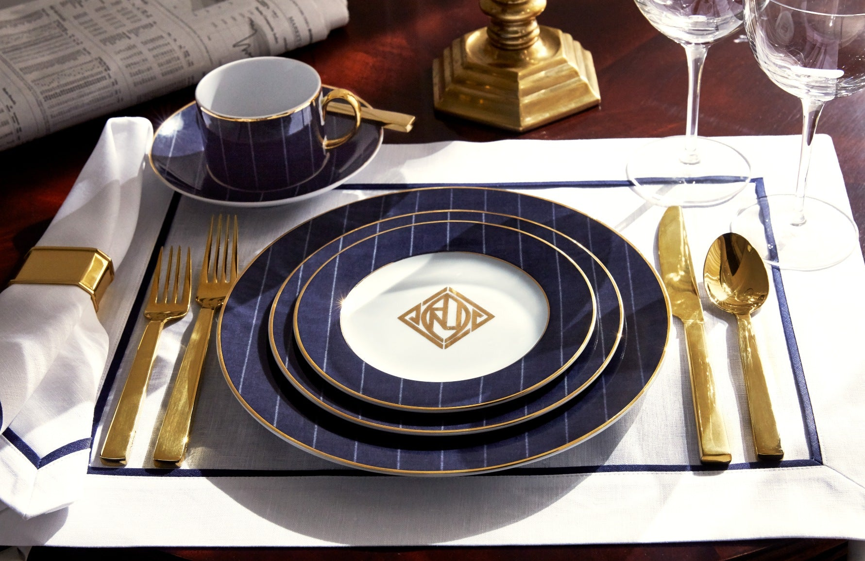 How To Set A Table - A Guide to Dining Table Settings - Ralph Lauren - LuxDeco.com Style Guide