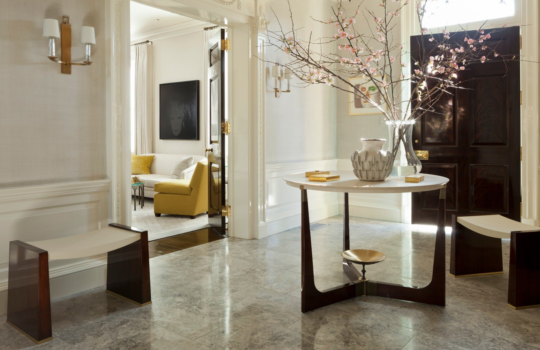 How To Style Your Round Entryway Table - Round Entryway Table – LuxDeco.com Style Guide