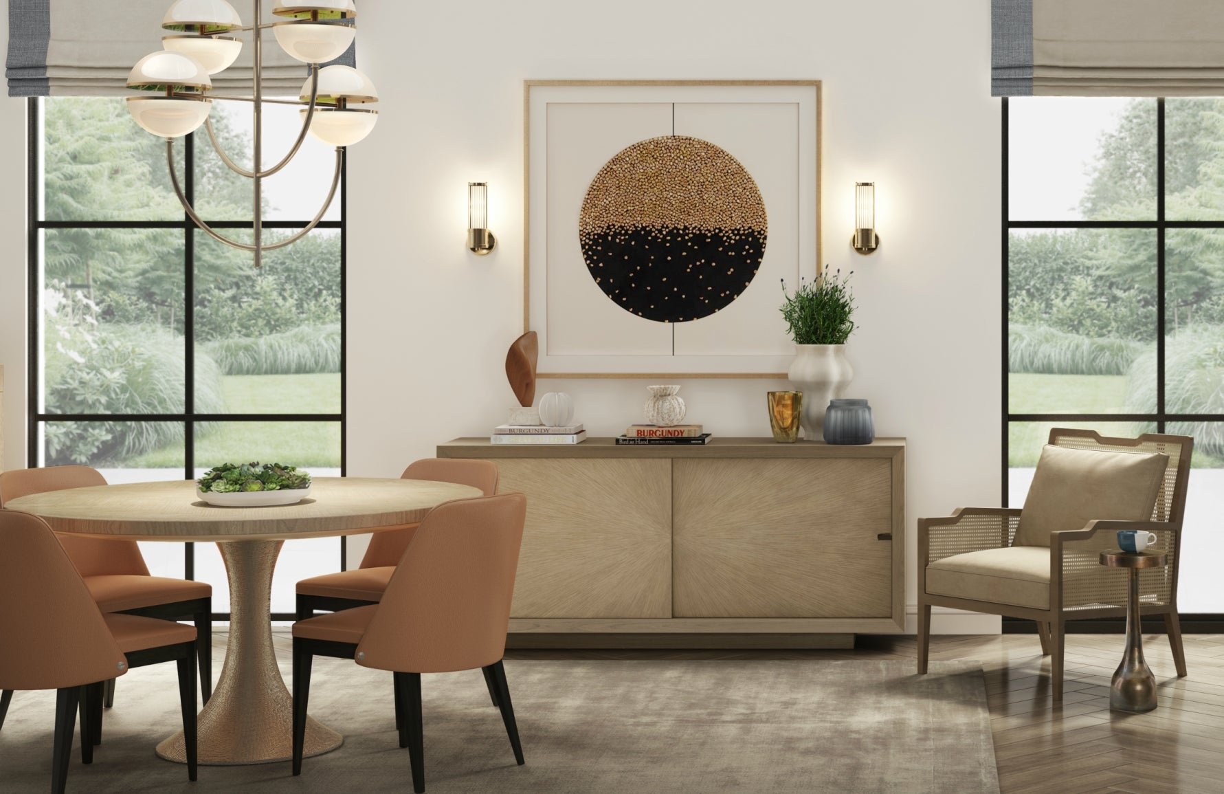 Informal Contemporary Dining Room | Luxury Interior Design | Shop our Wimbledon Collection at LuxDeco.com