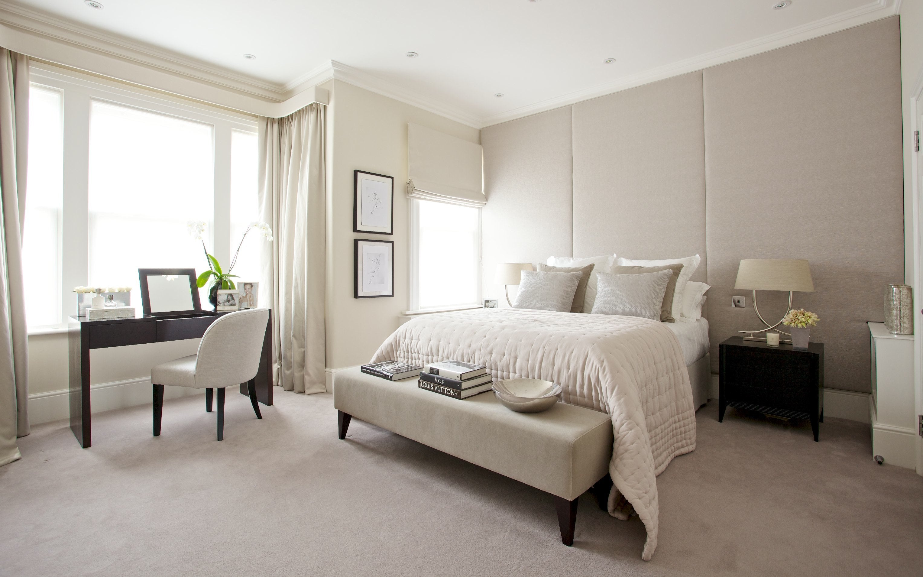 Ivory Bedroom Colour Scheme - Neutral Bedroom Colour Ideas - LuxDeco.com