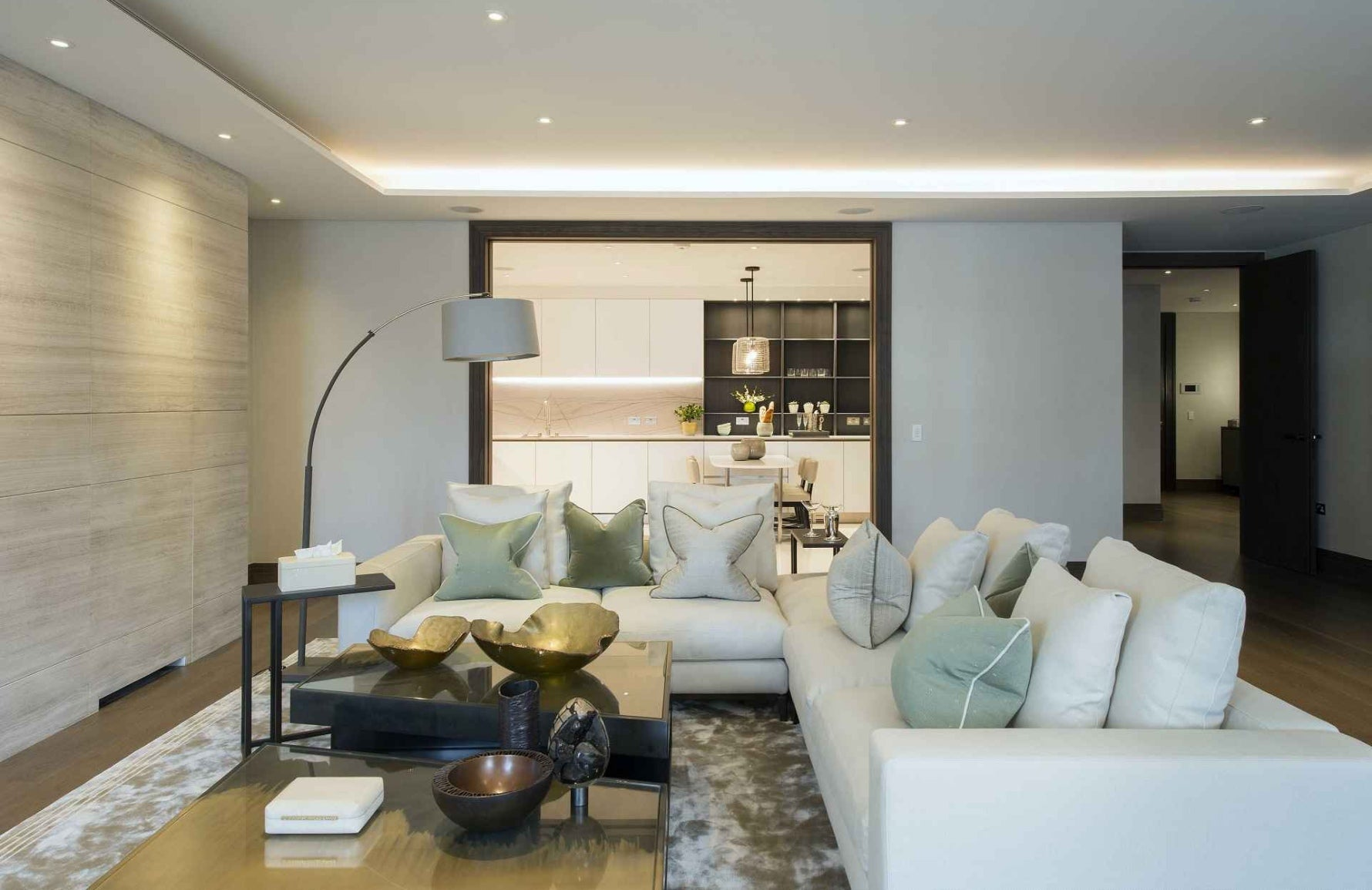 Cream and Grey Living Room Colour Palettes - Colour Schemes & Combinations – LuxDeco Style Guide