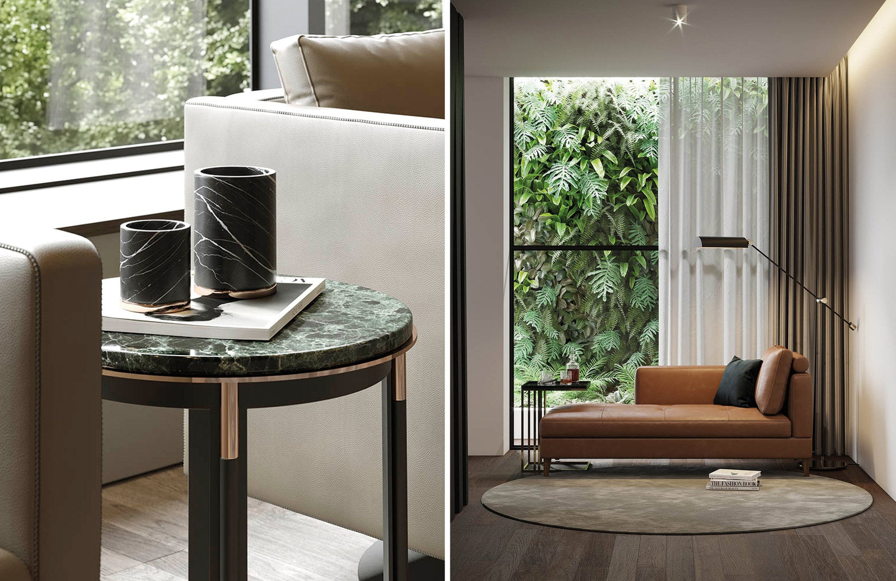 Laskasas | Behind The Brand | Portuguese Furniture | Marble Side Table | Orange Chaise Longue | LuxDeco.com