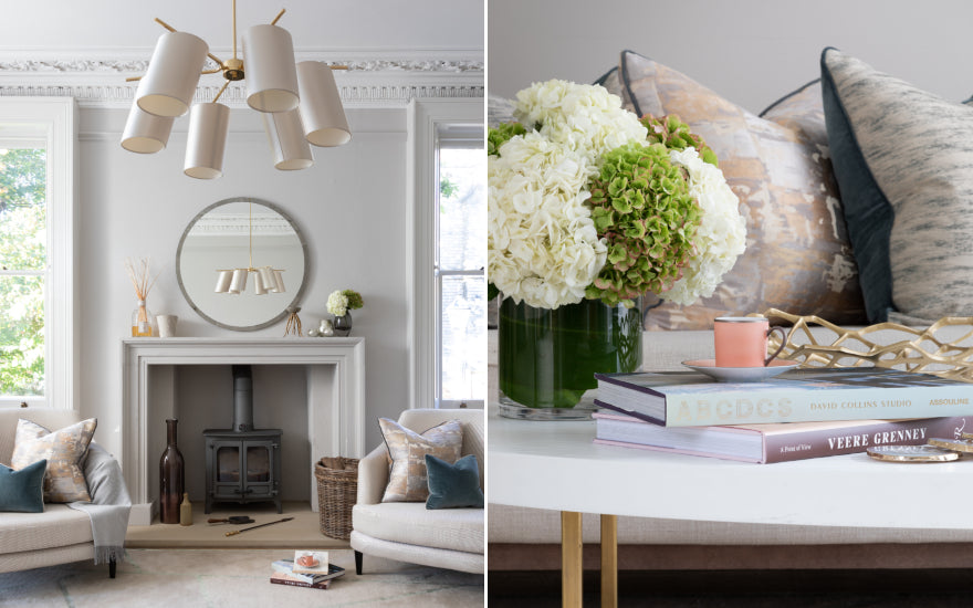 Living Room Makeover with Sophie Peckett Design - After Shot Detail - LuxDeco Style Guide