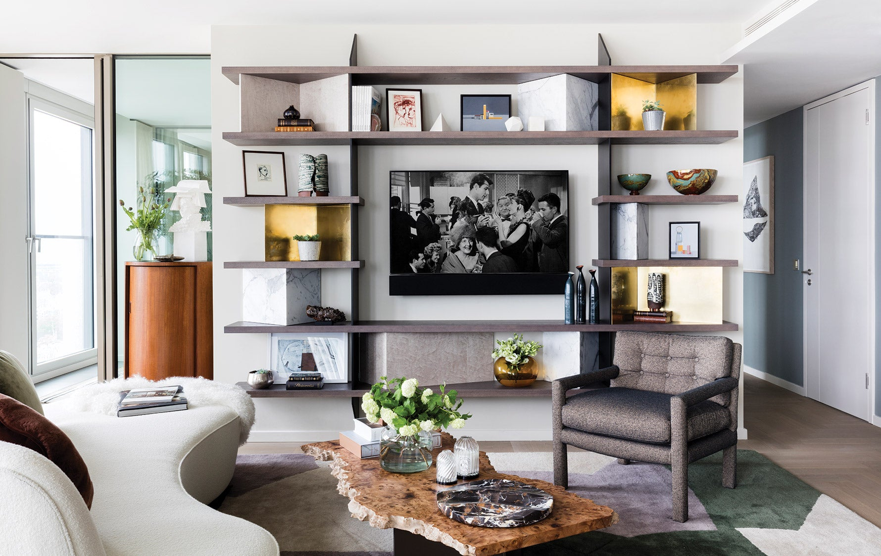 Living Room Storage Furniture Ideas | Studio Ashby | Read more in the LuxDeco.com Style Guide