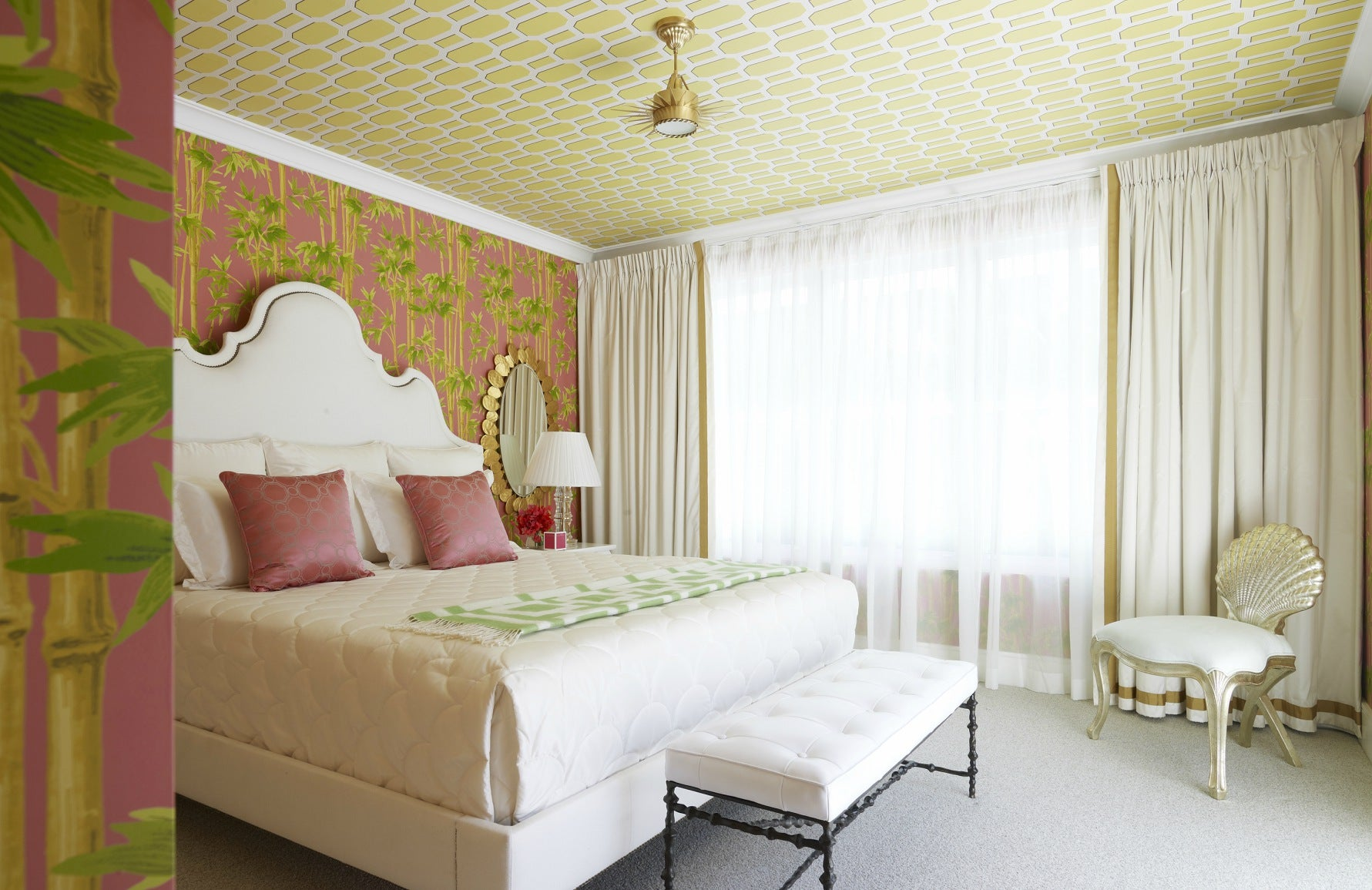 Living room wallpaper | Colourful bedroom | Greg Natale bedroom | The Luxurist | Read more at LuxDeco.com