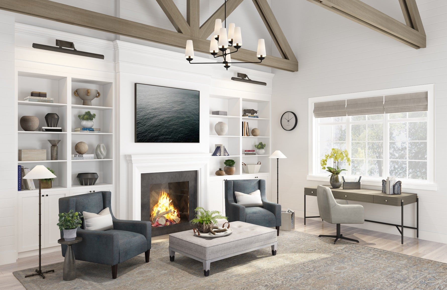 LuxDeco Summer House   Modern Rustic Office    Shop rustic interiors at LuxDeco.com