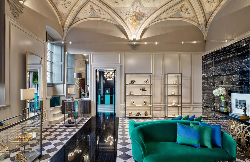 6 Luxury Retail Store Interior Designs We Want to Live In - Aquazzura, Florence - LuxDeco Style Guide