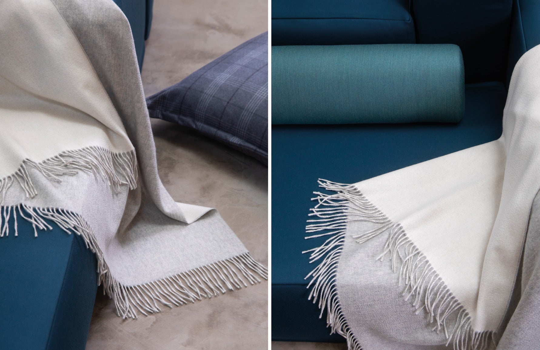 Cashmere Reversible Throw - 9 Best Luxury Throws & Blankets to Buy for your Home - Style Guide - LuxDeco.com