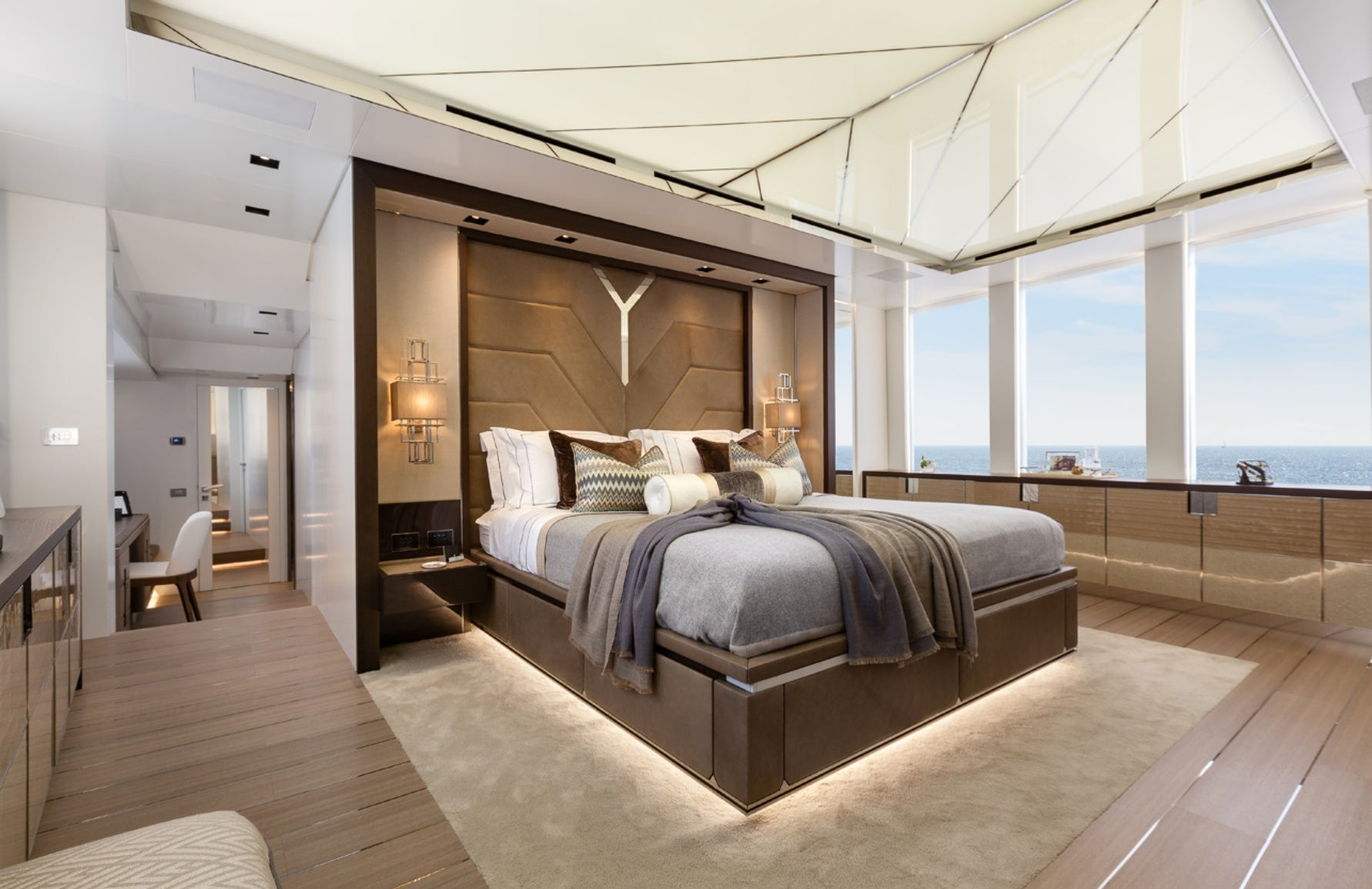 Luxury Superyacht Interior Design Ideas - Bedroom Yacht Interior - LuxDeco.com