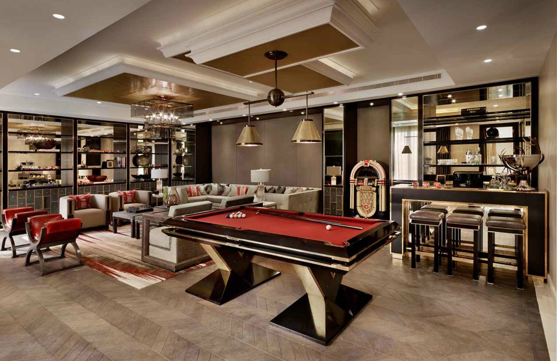 Man Cave Interiors | Katharine Pooley Games Room | The Luxurist | LuxDeco.com