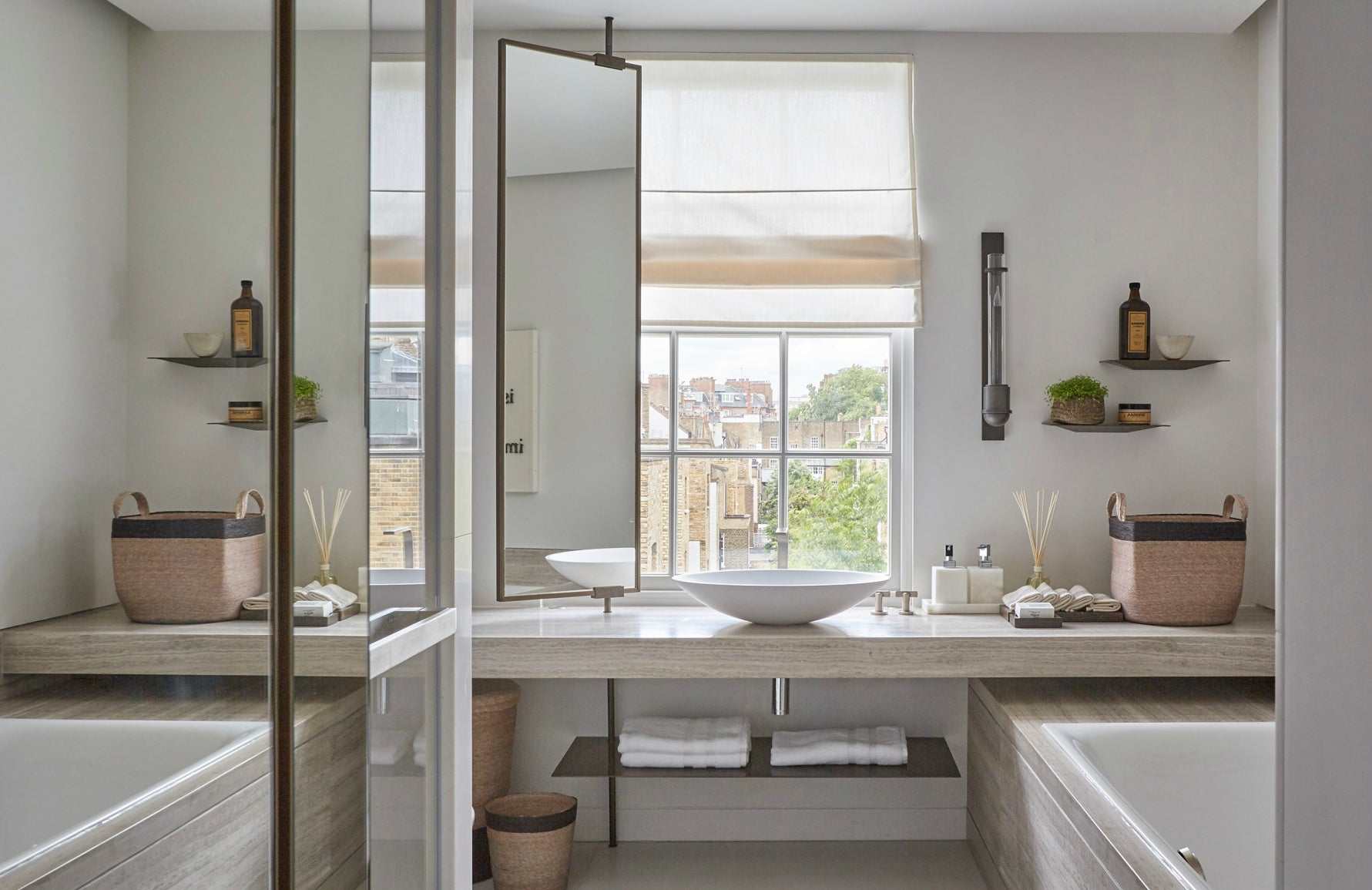 Meet The Designer | Louise Bradley Neutral Bathroom | The Luxurist | LuxDeco.com