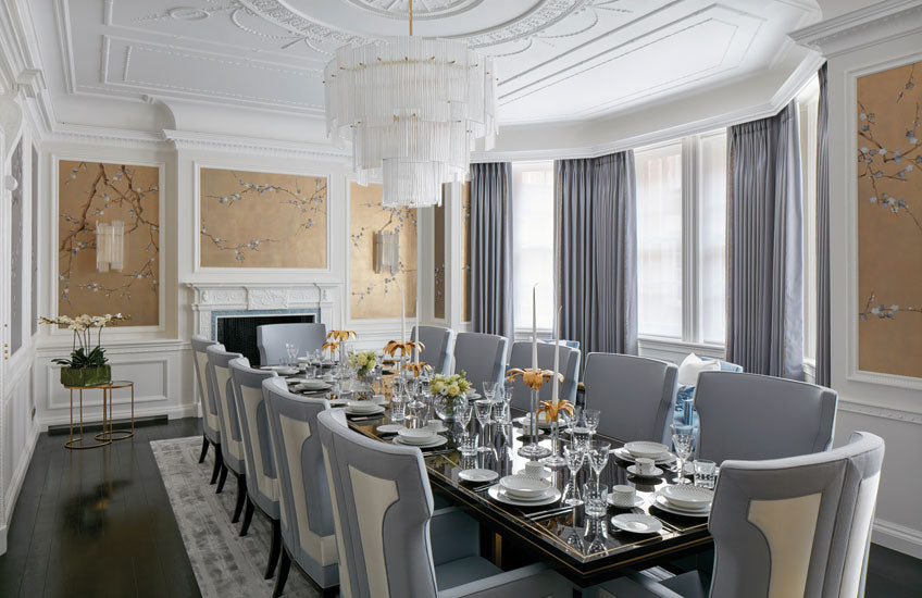 Silver and Gold Dining Room – Dining Room Colour Palettes - Dining Room Colour Schemes & Colour Combination ideas - Read in the LuxDeco.com Style Guide