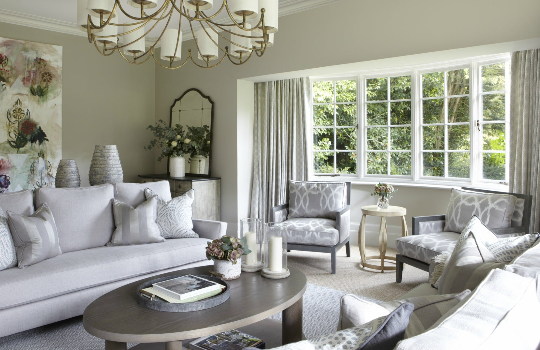 Modern Country Interiors | Helen Green Design Living Room | The Luxurist
