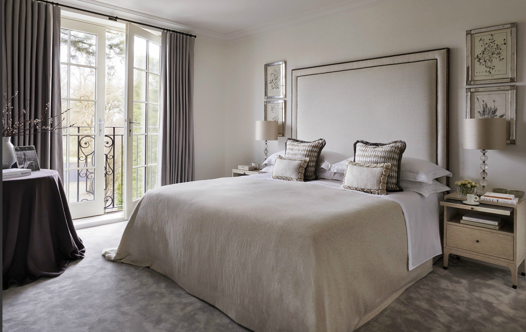 Modern Country Interiors | Interior design by Louise Bradley | Luxury Country Bedroom | The Luxurist