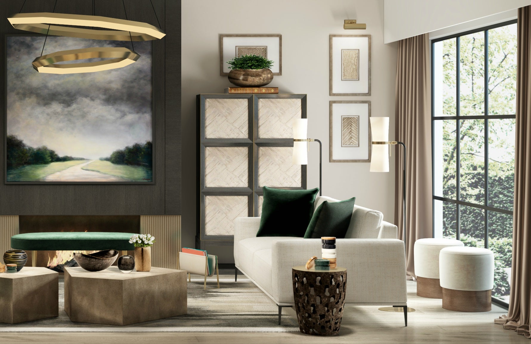 Neutral Living Room Style | Luxury Interior Design | Shop our Wimbledon Collection at LuxDeco.com