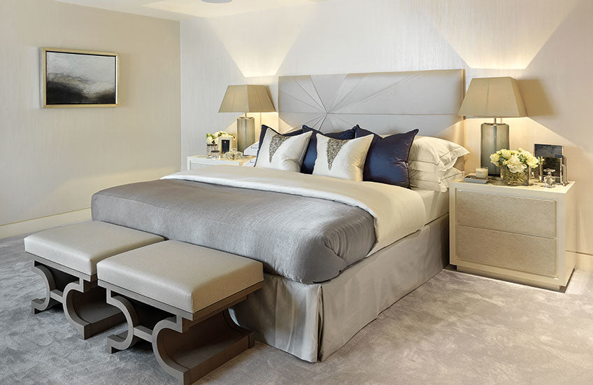 Neutral and Blue Bedroom Colour Palettes - Bedroom Colour Ideas - Bedroom Colour Schemes & Combinations – LuxDeco Style Guide