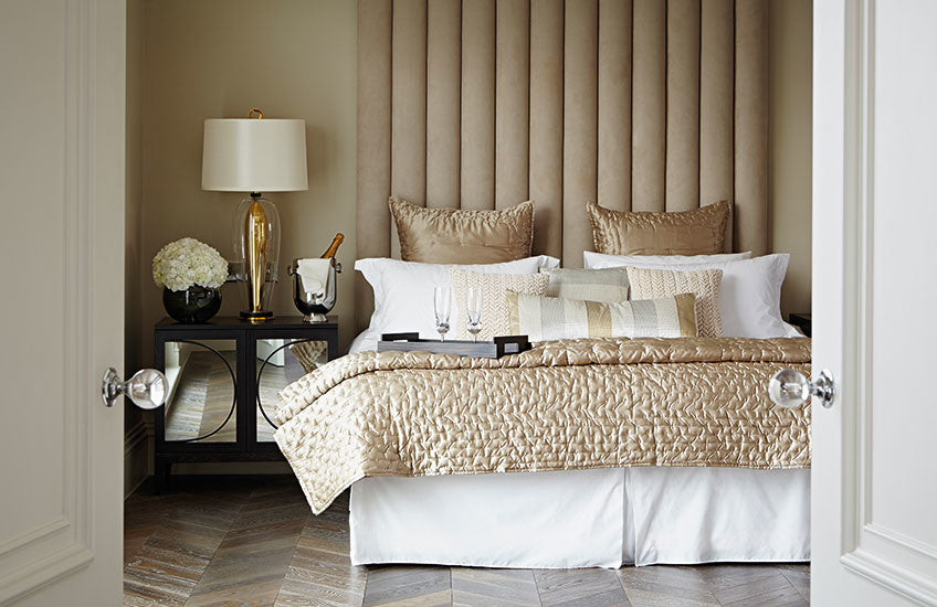 Neutral and Gold Bedroom Colour Palettes - Bedroom Colour Ideas - Bedroom Colour Schemes & Combinations – LuxDeco Style Guide