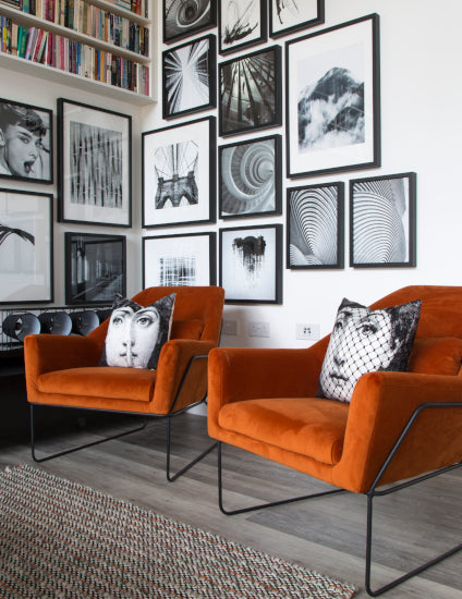 Orange Living Room ideas - How to Decorate with Orange - Suna Interior Design and Hyde New Homes - LuxDeco Style Guide