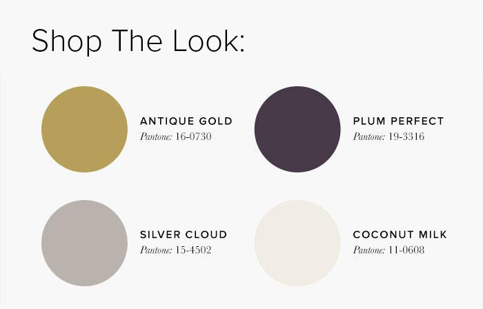 Purple and Gold Bedroom Colour swatches - Bedroom Colour Scheme Ideas & Combinations – LuxDeco Style Guide