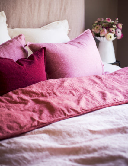 Pink Bedding - Pink Bedroom Ideas - How to Decorate Rooms with Pink - LuxDeco.com Style Guide