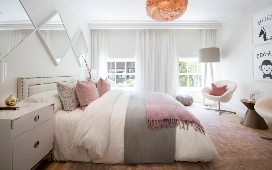 Pink Bedroom Accessories & Decor - Pink Bedroom Ideas - How to Decorate Rooms with Pink - LuxDeco.com Style Guide