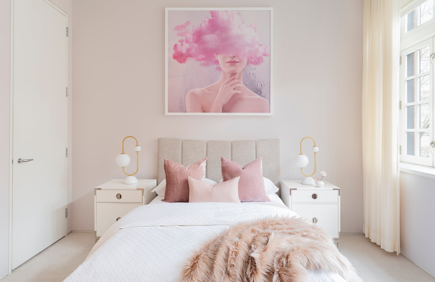 Shades of Pink Bedroom Ideas - How to Decorate Bedrooms with Pink - LuxDeco.com Style Guide