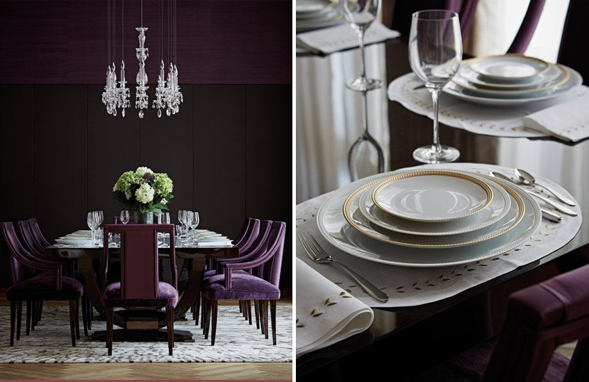 Purple Dining Room – Dining Room Colour Palettes - Dining Room Colour Schemes & Colour Combination ideas – Read in the LuxDeco.com Style Guide