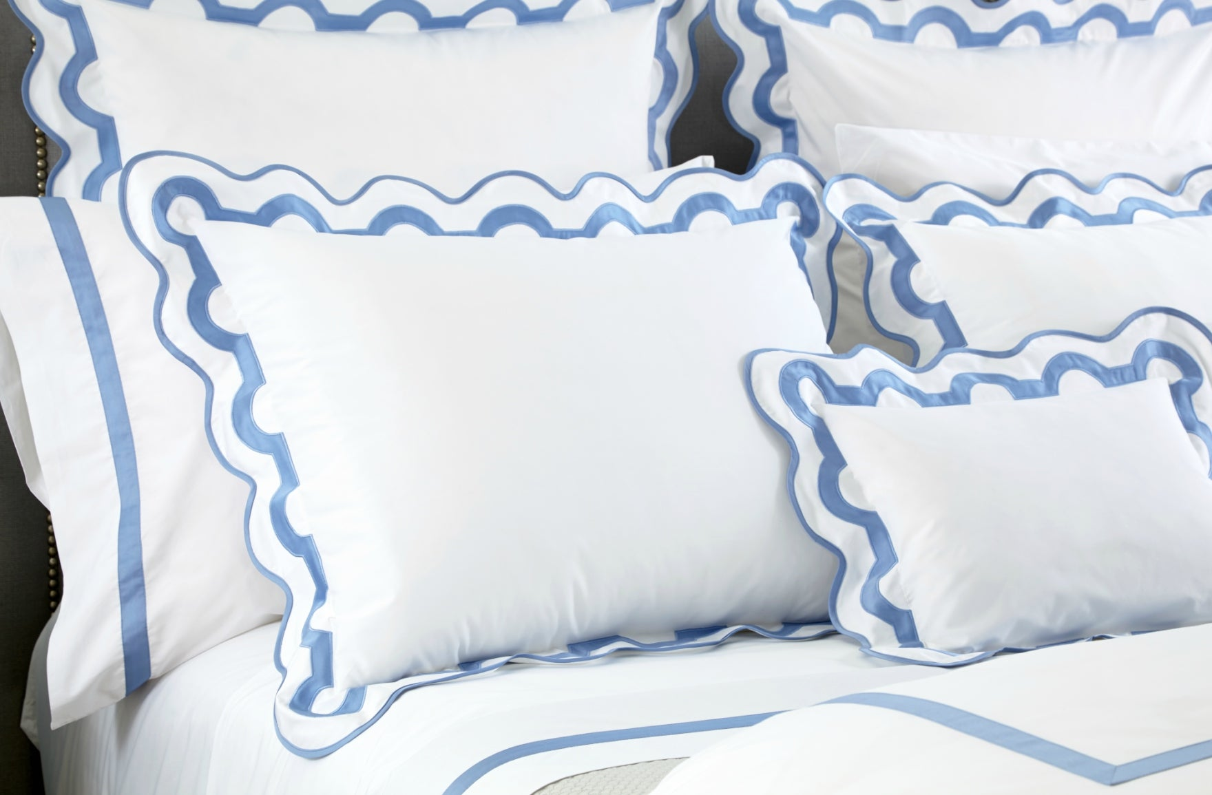 Scalloped Furniture & Decor | Matouk Linens | Shop now at LuxDeco.com and read more in The Luxurist