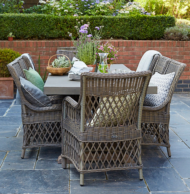 Scatter some outdoor cushions - Outdoor Dining Ideas - LuxDeco Style Guide
