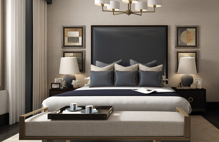 Shop the LuxDeco Riverside Collection online at LuxDeco.com – Luxury Blue Bedroom