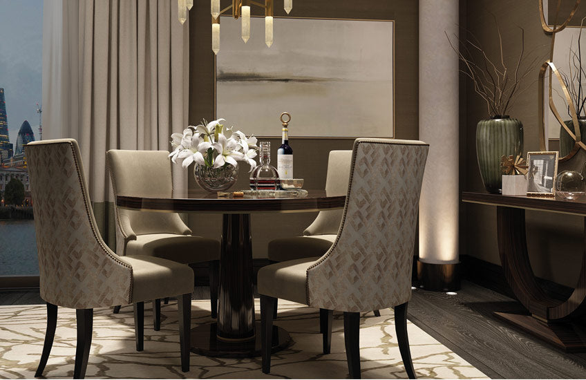 Shop the LuxDeco Riverside Collection online at LuxDeco.com – Luxury Dining Room