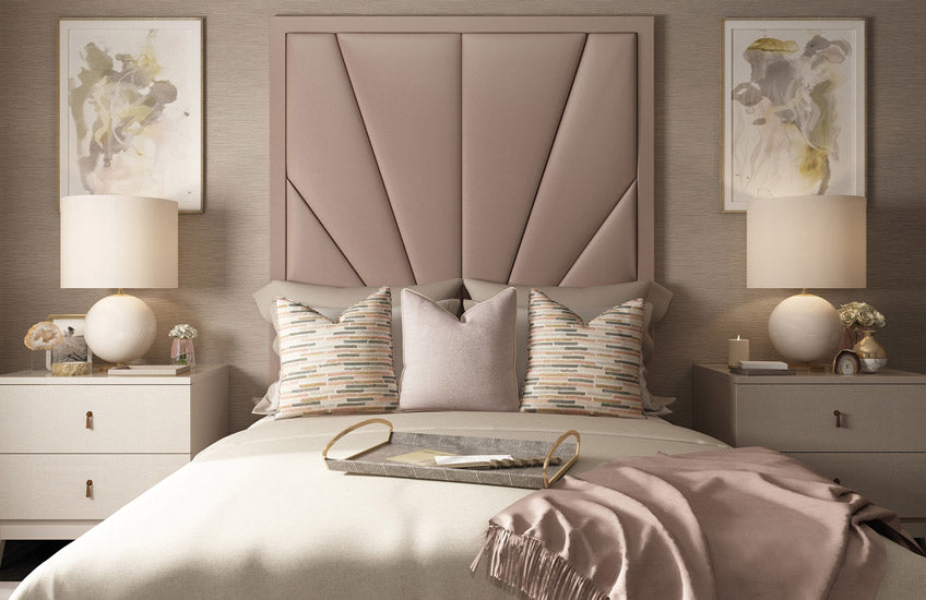 Shop the LuxDeco Riverside Collection online at LuxDeco.com – Stylish Pink Bedroom