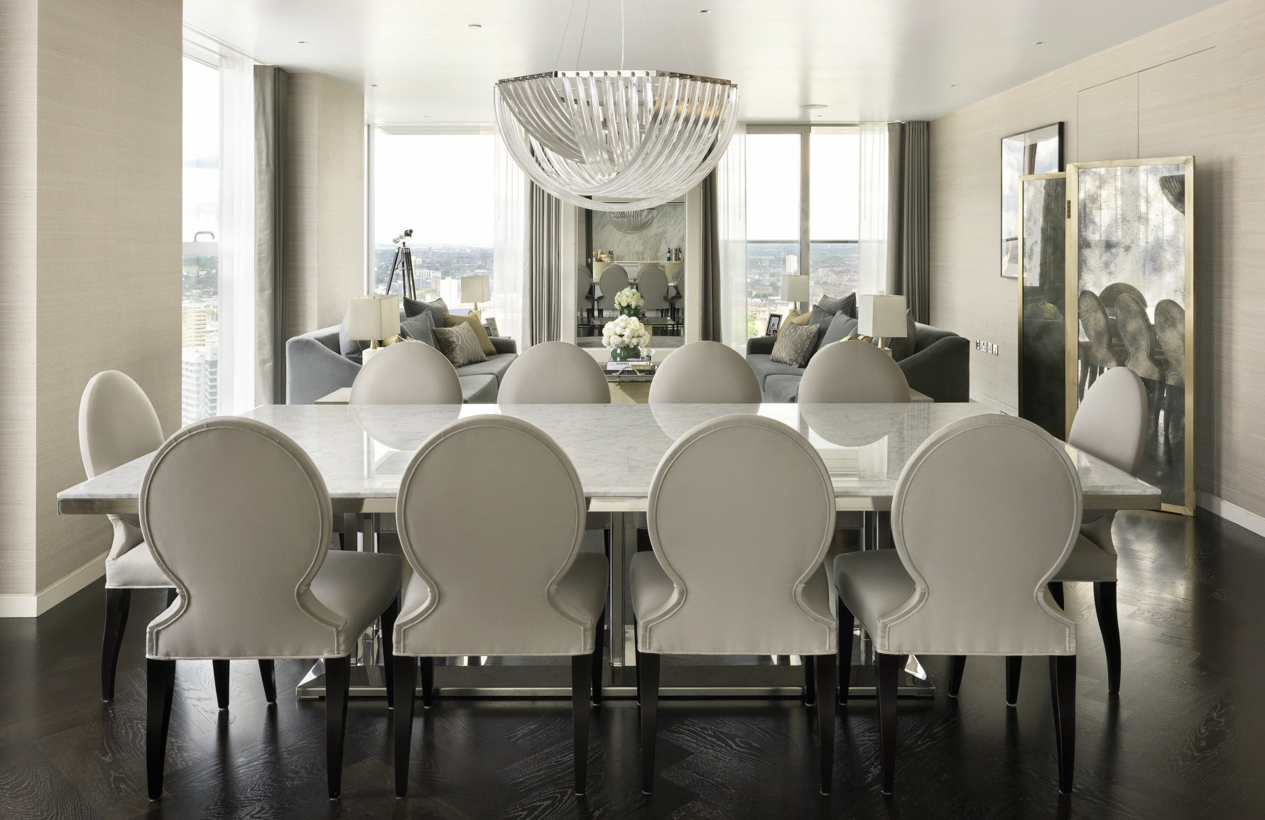 Spinocchia Freund | Meet The Designer | Grey Dining Room | The Luxurist | LuxDeco.com