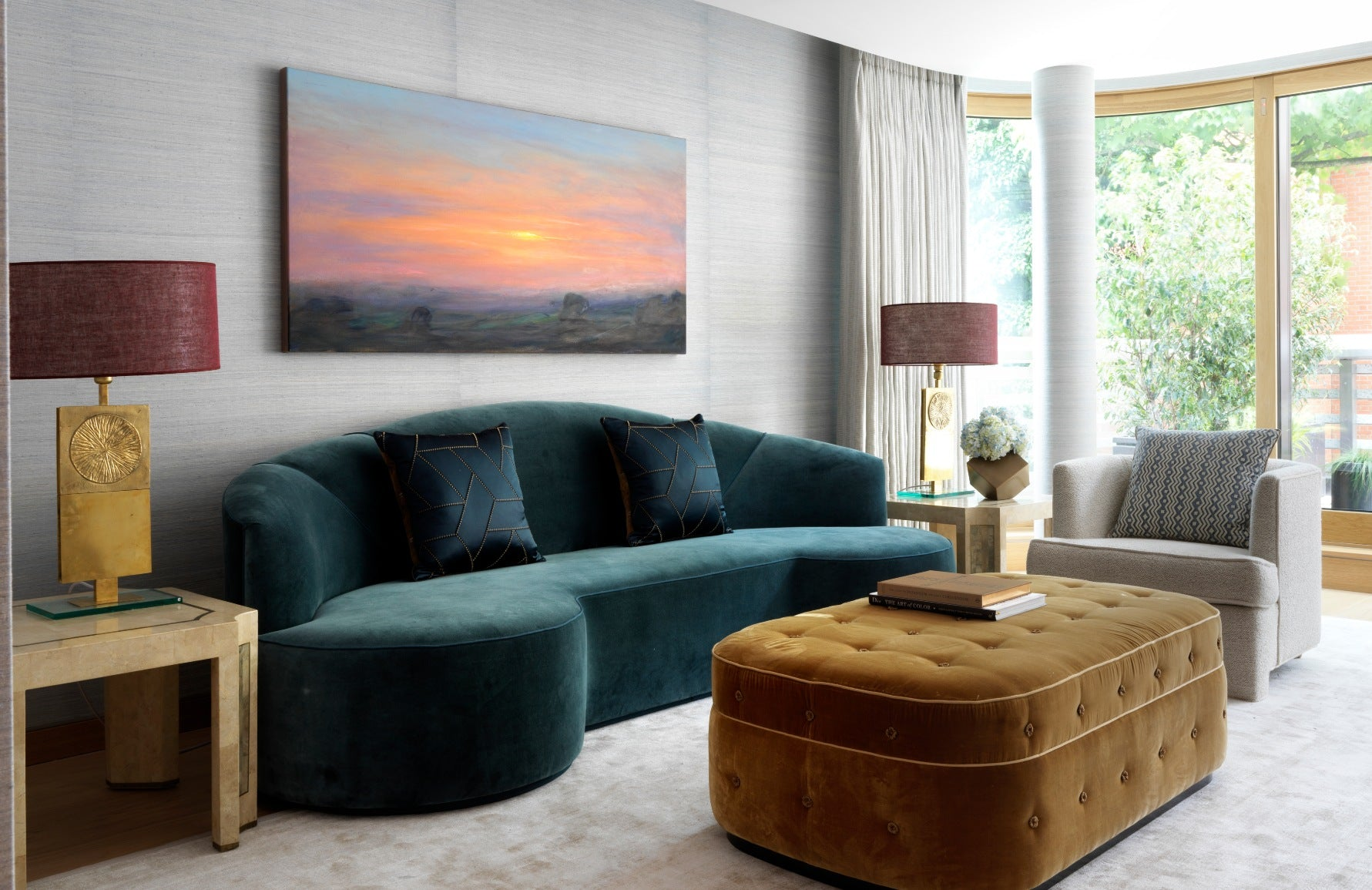 Teal Living room by Natalia Miyar | Read more in the LuxDeco.com Style Guide