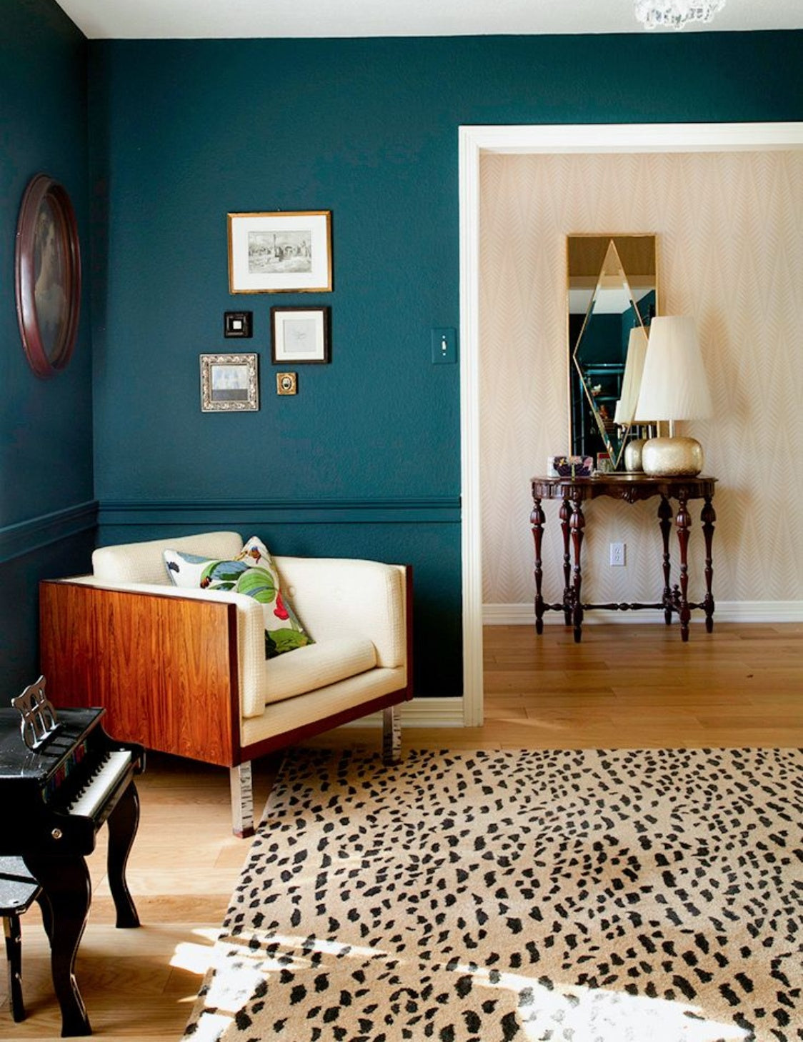 Teal Living Room by Erin Williamson | Read more in the LuxDeco.com Style Guide