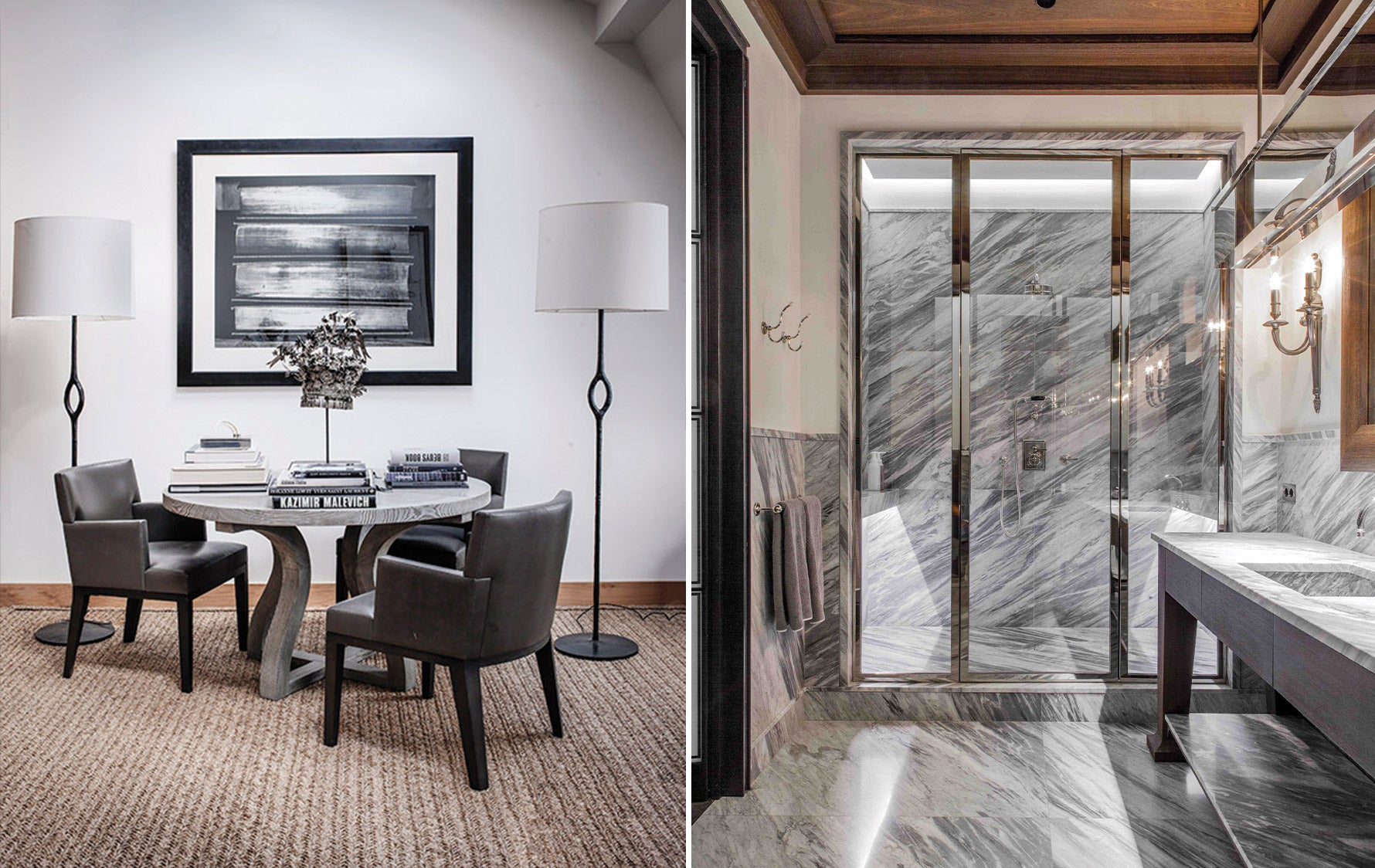 Timeless Design Fundamentals – Gilles & Boissier – Timeless Dining Room:Marble Bathroom –LuxDeco.com Style Guide