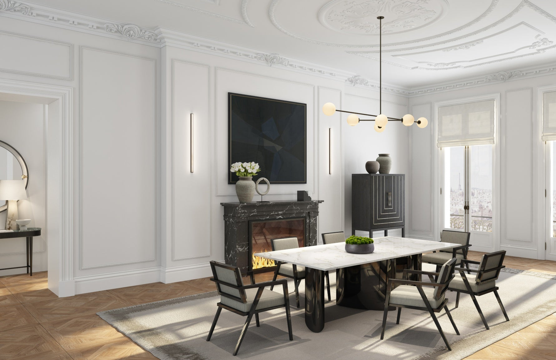 The Paris Lookbook | Modern Dining Room | Shop now at LuxDeco.com
