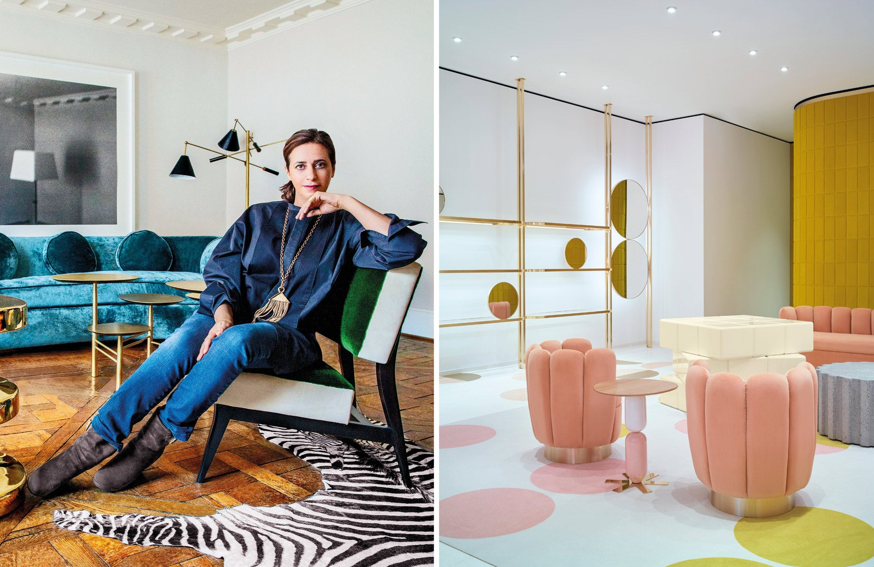 Female Interior Designers who Changed the Industry - India Mahdavi - LuxDeco Style Guide